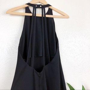 Zara Halter low back little black dress LBD S